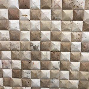 mozaic piatra - sah 3 culori - travertin marmura pret mp