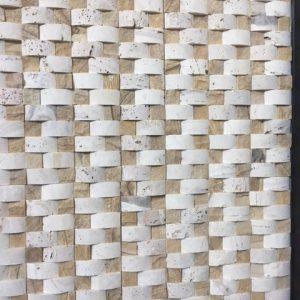 Sah mozaic piatra naturala (marmura si travertin latte) - Mozaic pret redus
