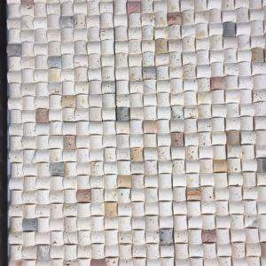 mozaic pret travertin pret transparent, Mozaic piatra naturala - travertin