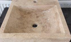 marmur art lavoar marmura pret bucuresti chiuveta travertin patrata