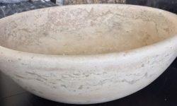Chiuveta baie piatra - durabila - Lavoar marmura travertin elegant Marmur art